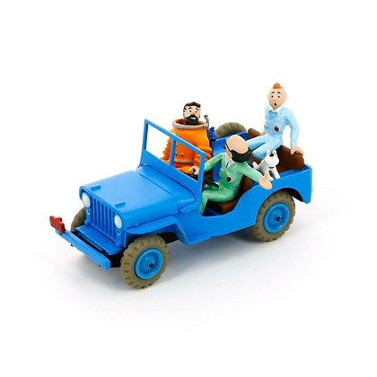 tintin jeep bleu bd objectif lune boutique tintin et milou bruxelles magasin figurines tintin et milou bruxelles galerie