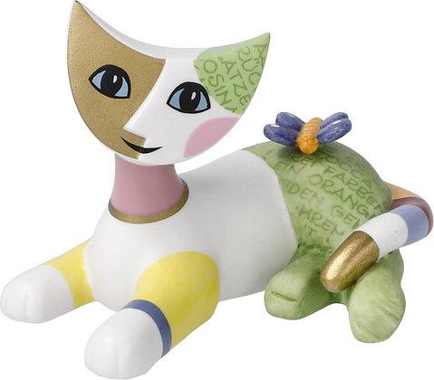 figurine chat Riposa Wachtmeister chat felice sculpture chat goebel porcelaine la folie des cadeaux bruxelles cadeau fan chat