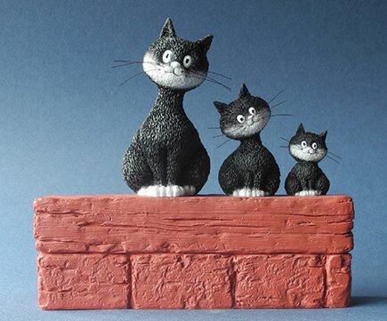 les chats de dubout belgique le trio parastone le chat dubout 3 chats dubout cats brussels black cat parastone belgium cat