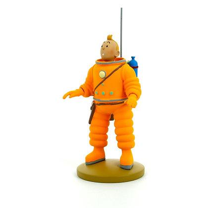 Tintin cosmonaute figurine lune tintin et milou bruxelles boutique de cadeaux de noel bruxelles la folie des cadeaux galerie