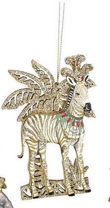 zèbre decoration de noël zébre décorative zebre gisela graham zèbre collection magasin de cadeaux bruxelles