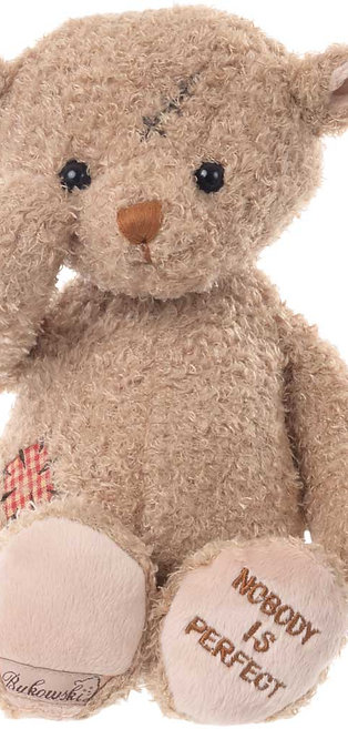 """Peluche ours """"Nobody is perfect"""""""