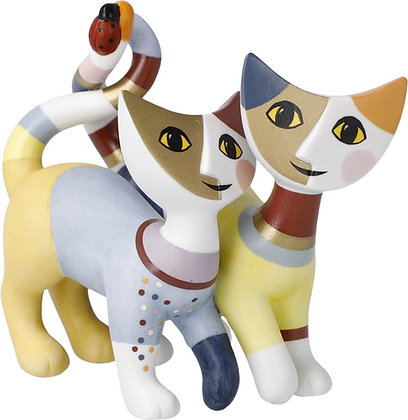figurine chat Riposa Wachtmeister Luca e Sofia sculpture chat goebel porcelaine la folie des cadeaux bruxelles cadeau de noel