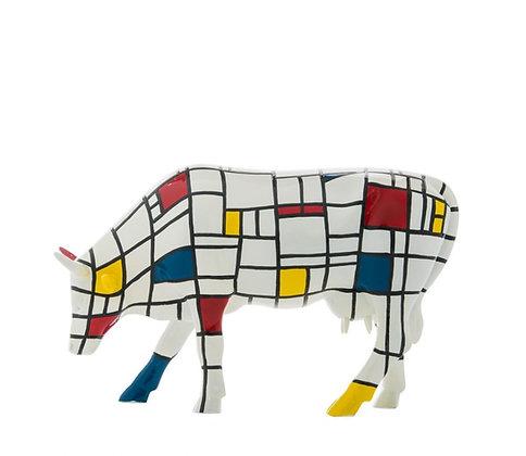 vache mondrian cow parade moodrian cadeau vache de collection bruxelles la folie des cadeaux galerie de la reine saint hubert