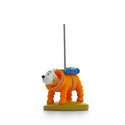 Milou cosmonaute figurine lune tintin et milou bruxelles boutique de cadeaux de noel bruxelles la folie des cadeaux galerie