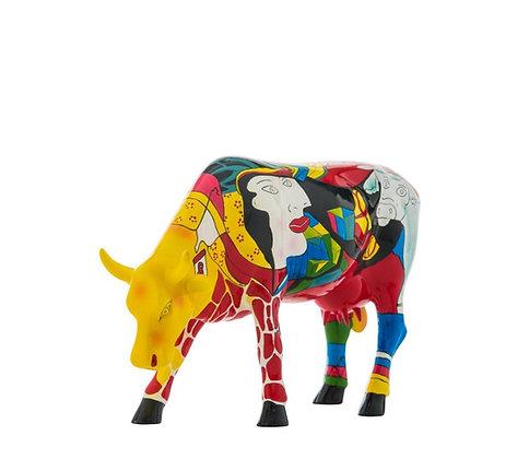 vache picasso cow parade Homage to Picowso's African Period cadeau vache bruxelles la folie des cadeaux galerie de la reine
