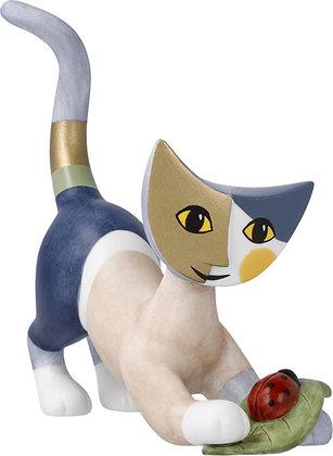 figurine chat rosina Wachtmeister chat felice sculpture chat goebel porcelaine la folie des cadeaux bruxelles cadeau fan chat