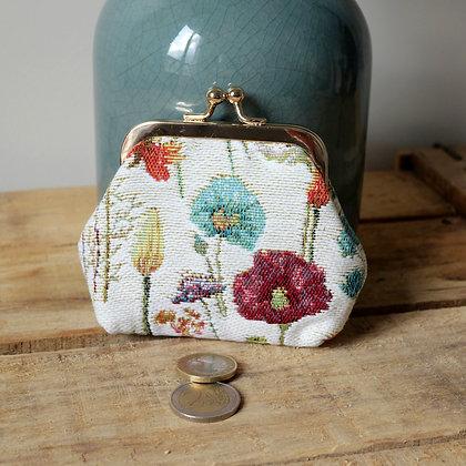 porte monnaie en tapisserie porte monnaie clip porte monnaie fermoir porte monnaie royal tapisserie royale bruxelles boutique