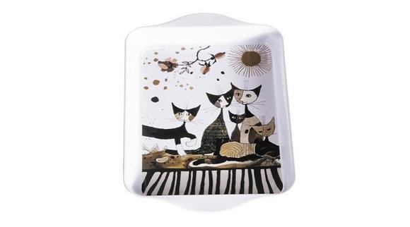 plateau motif chat Rosina Wachtmeister cats sepia cadeau pour femme la folie des cadeaux bruxelles magasin ouvert le dimanche