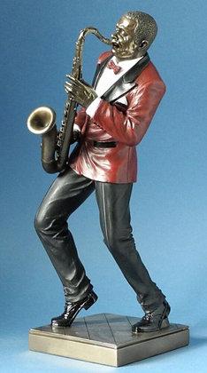 sculpture de jazzman parastone saxo magasin de cadeaux bruxelles boutique de cadeaux brussels magasin ouvert le dimanche