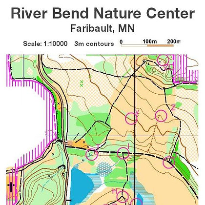 River Bend Nature Center Permanent O-Course Map