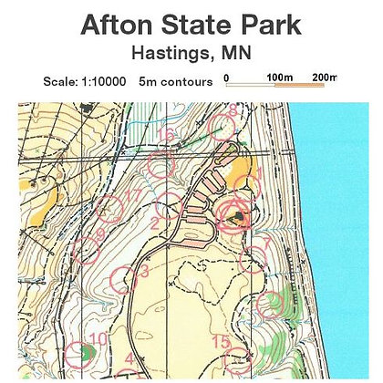 Afton State Park Permanent O-Course Map