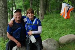 Couple adventure racing