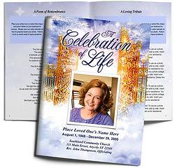 Gates Golden Heaven Purple Lavendar Pathway Funeral Obituary