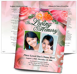 Rosy Obituary Roses Pink Flowers Bouqet