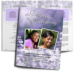 Purple Flowers Feminine Lila Funeral