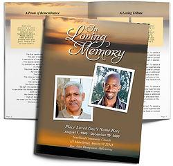 Sunrise Calm Peaceful Obituary Funeral Booklet