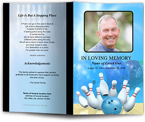 Bowling Pins Bowling Ball Obituary Funeral