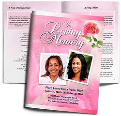Rose Petal Pink Feminine Obituary