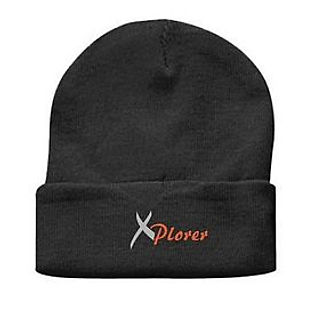 6051051777d414 Embroidered Black Long Cuff Beanie Item #AE332066 Price: $16 /ea Min: 20