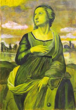 Hepatitis Girl (after Raphael's Catherine of Alexandria)