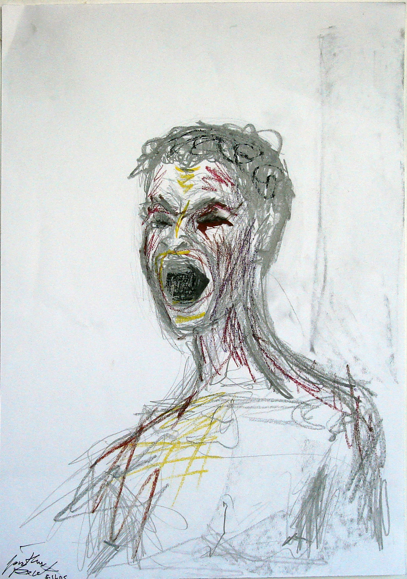 Self Portrait Screaming