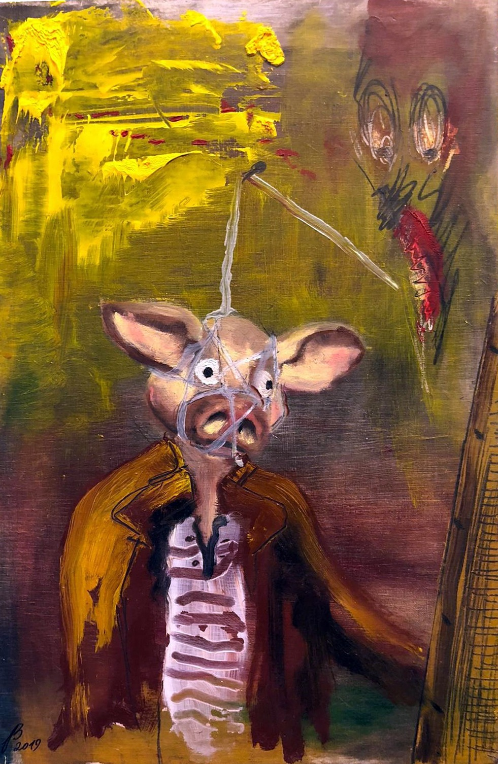 Pig Painter and He's Haunted by a McDemon