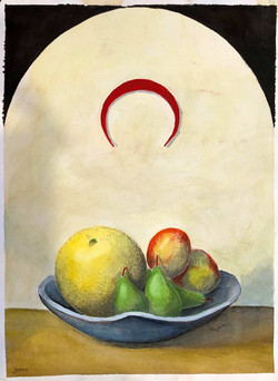 Still Life with Red Crescent