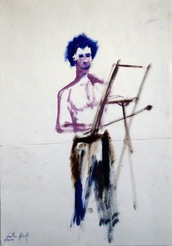 Three color Self Portrait