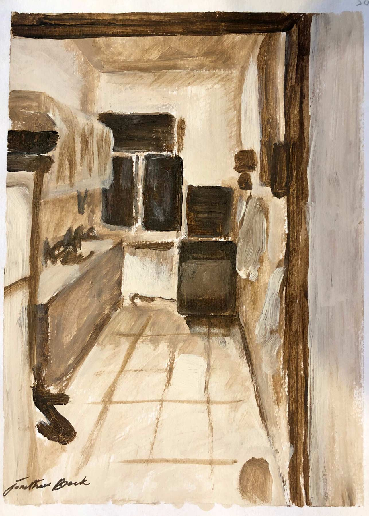Sketch for Kitchen Interior