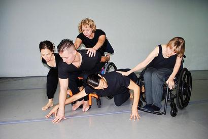 Karen Peterson and Dancers, L-R Katie Br