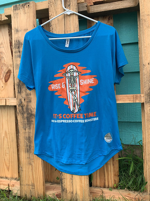 scoop neck surf t-shirt
