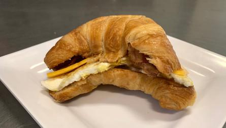 Criossant breakfast sandwhich
