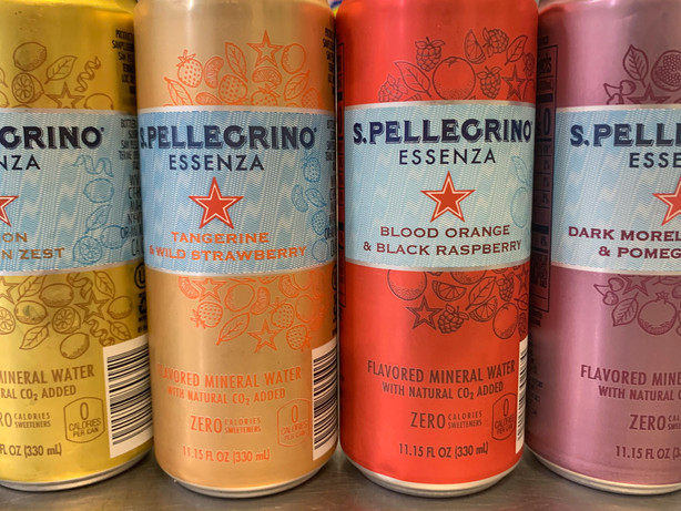Various sparkling drinks
