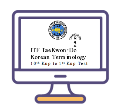 ITF TKD Korean Audio Terminology Grading Tests - Digital Download