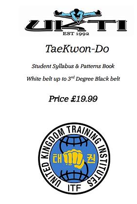 Student Syllabus & Tul - White belt - 3rd Degree