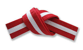 Little Kubz Red/White Stripe belt (3rd Kub)