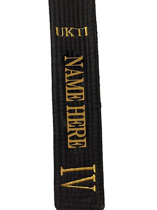 UKTI Embroided Black Belt
