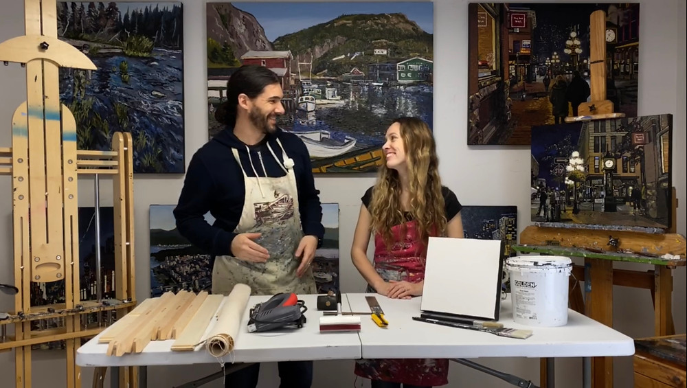 Visit Mike and Emilie Fantuz youtube channel.  From Our Perspective for more artist information and demonstrations