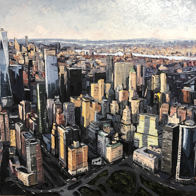 New York Cityscape oil painting