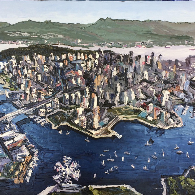 Vancouver oil on canvas Painting | Mike Fantuz