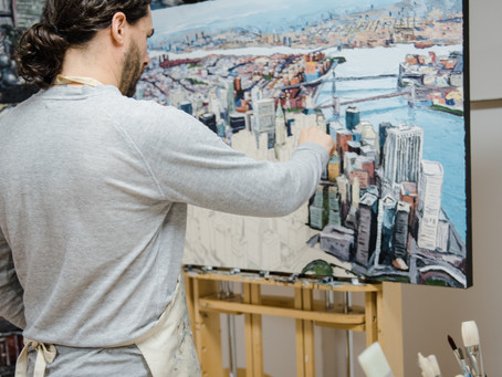 Why I paint aerial cityscapes and landscapes