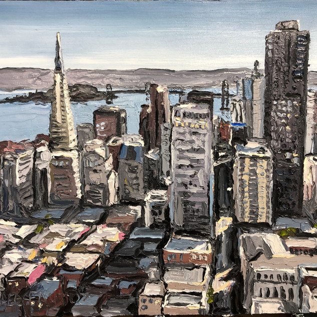 San Francisco Oil on canvas painting | Mike Fantuz