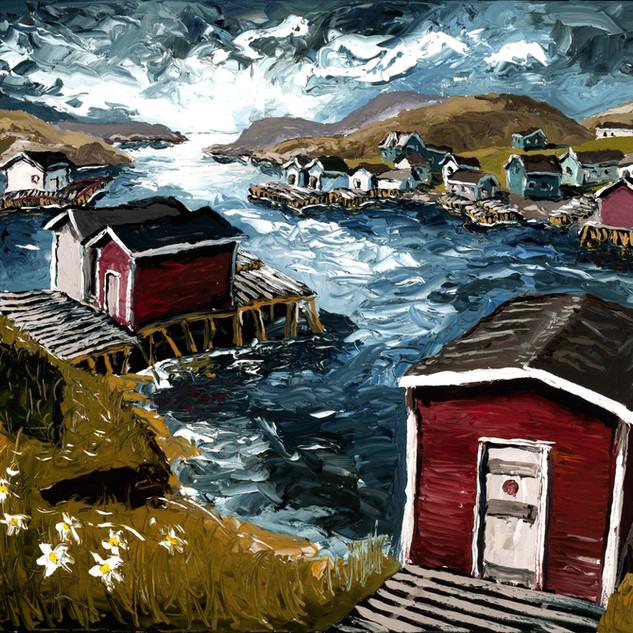 Grand Bruit Oil on canvas Painting Newfoundland art | Mike Fantuz