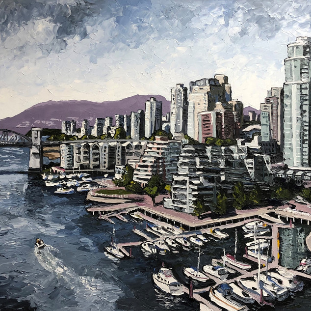 Vancouver British Columbia Oil on canvas painting | Mike Fantuz
