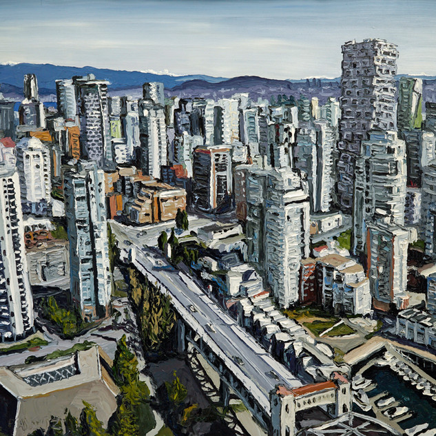 Downtown Vancouver Canada wall art | Mike Fantuz