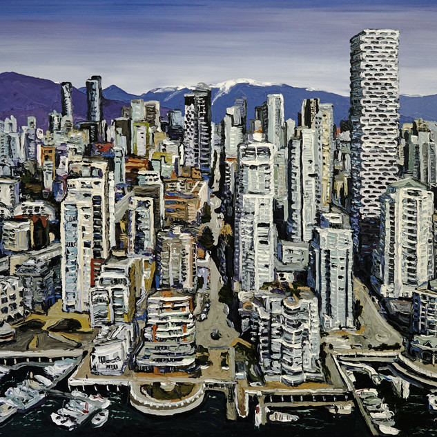 Vancouver Canada original art painting on canvas | Mike Fantuz