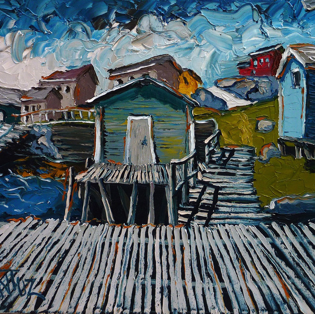 Newfoundland original art | Mike Fantuz