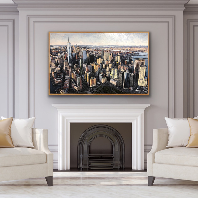 New York City Oil on canvas painting | Mike Fantuz