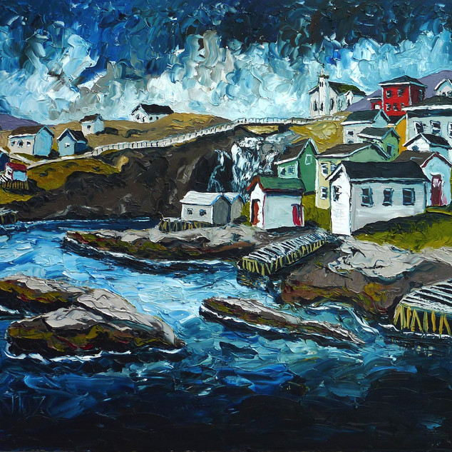 Newfoundland oil on canvas painting | Mike Fantuz